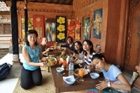 lunch at traditional balinese house