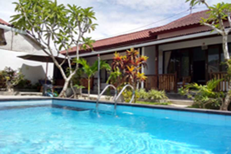 outside pool, pantai bungalow
