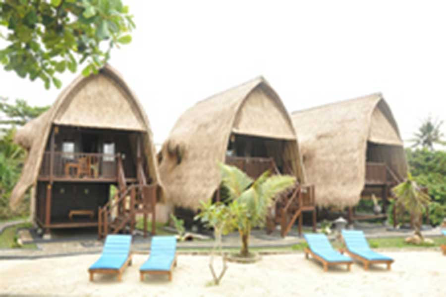 individual huts, huts view, dream beach huts