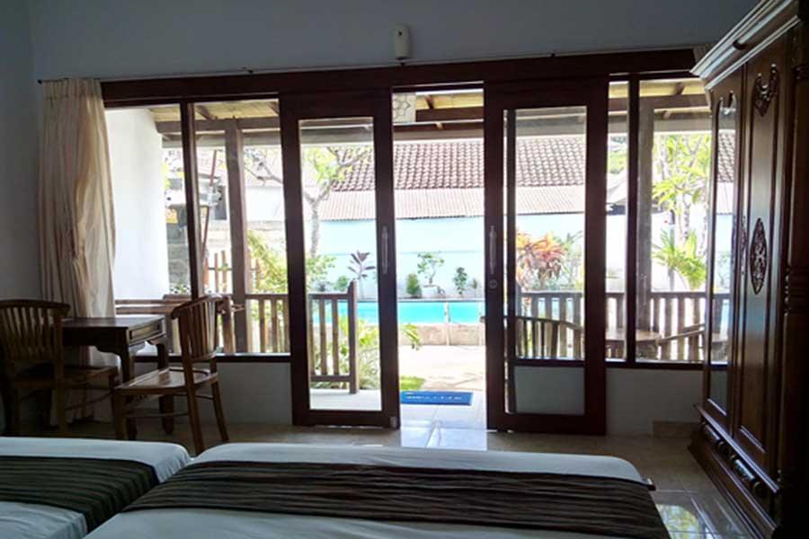 room view, pantai bungalow, lembongan island