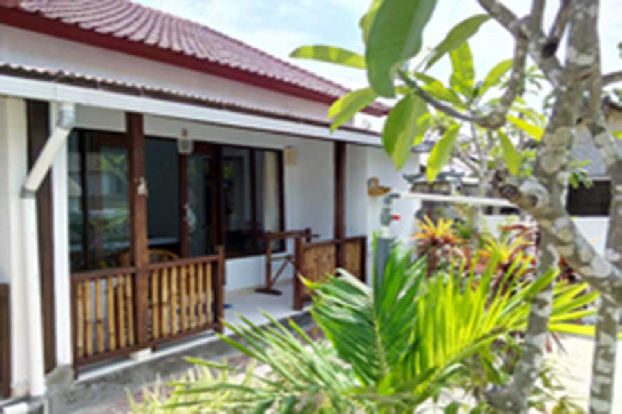 room view, pantai bungalow, lembongan