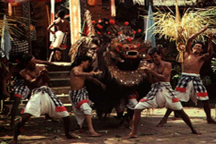 barong, keris, dance