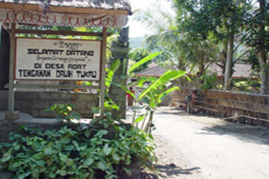 entrance to tenganan village