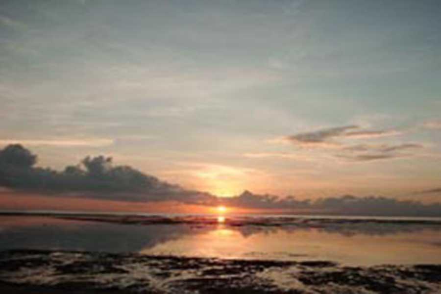 sunrise view, sanur, beach, denpasar, bali
