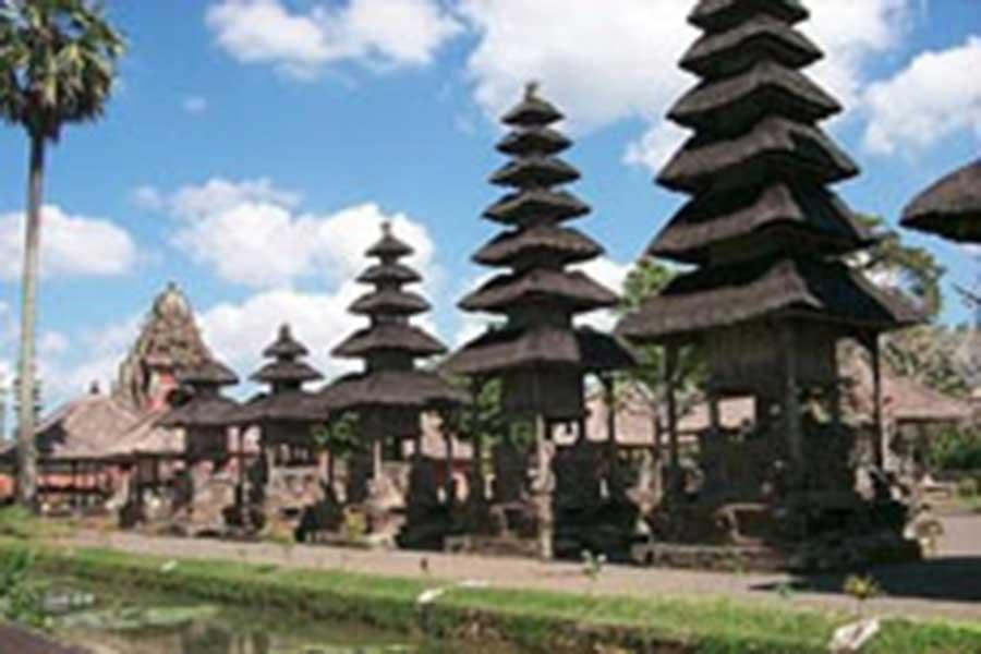 taman ayun temple view