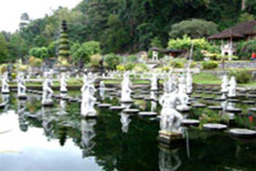 water garden view, tirta gangga