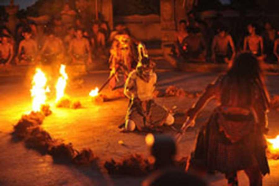 uluwatu, kecak fire dance