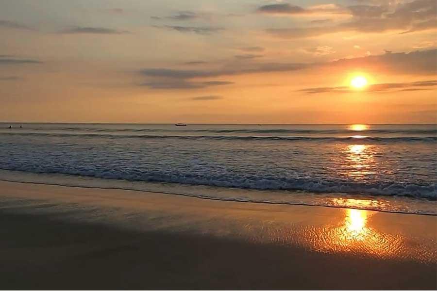 sunset view, kuta beach bali