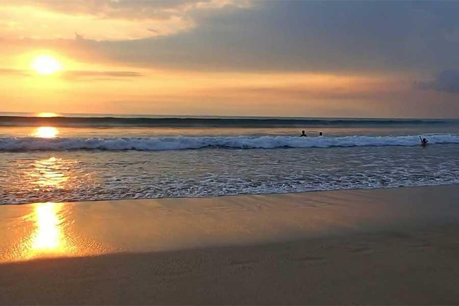 sunset kuta beach