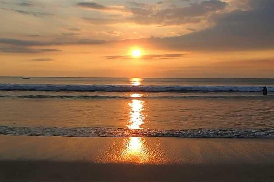kuta sunset view, kuta beach bali