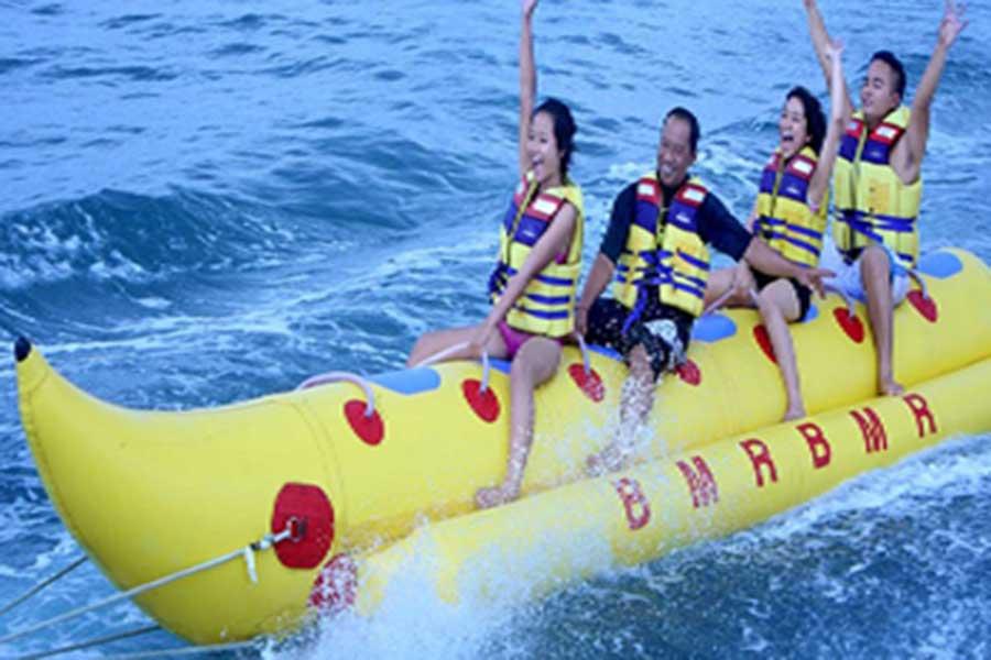 banana boat, tanjung benoa, water sports