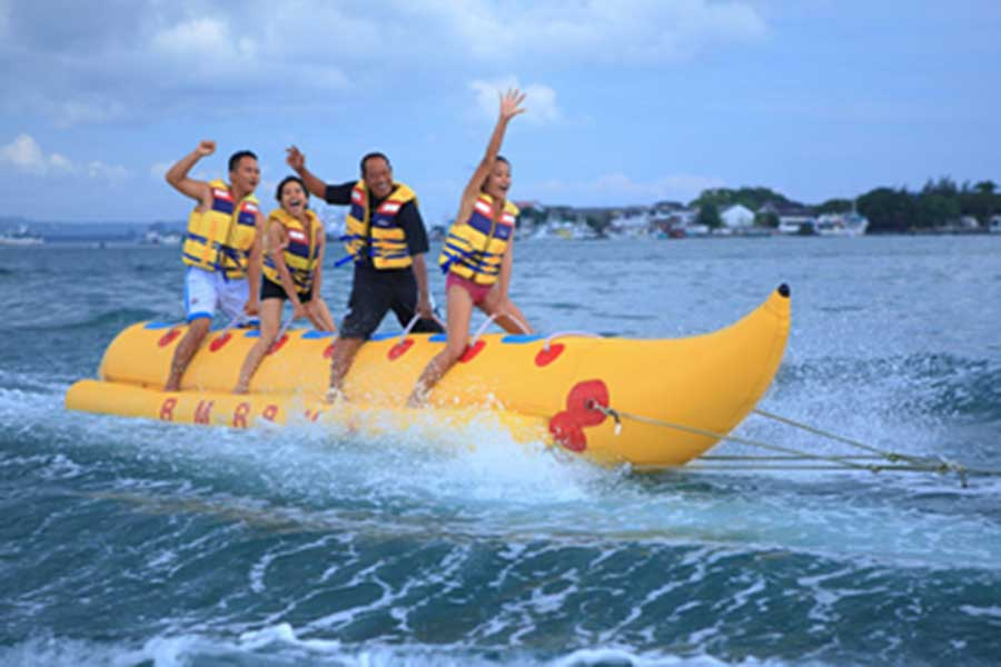 banana boat, tanjung benoa, water sports