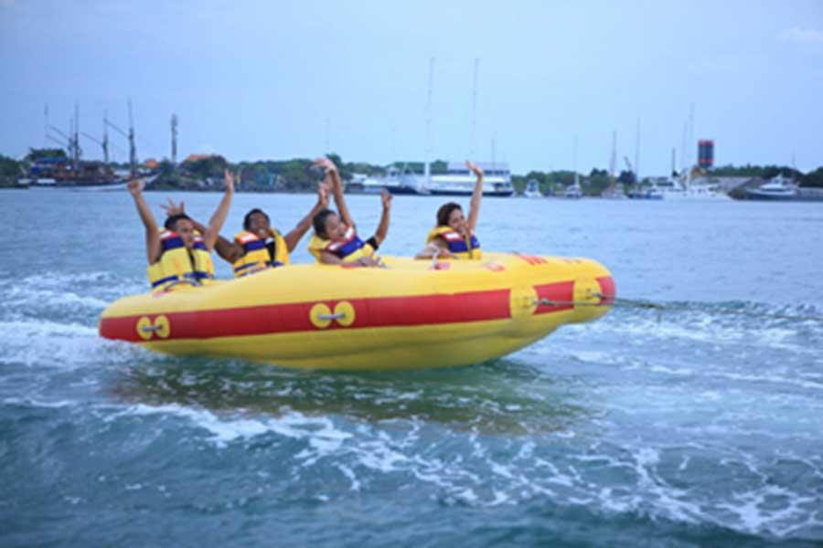 donut boat, water sports, tanjung benoa