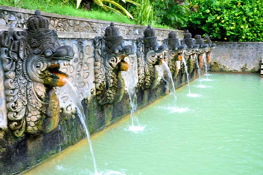 banjat hot water, hot spring bali