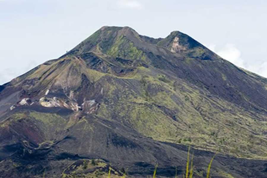batur, bali, volcano