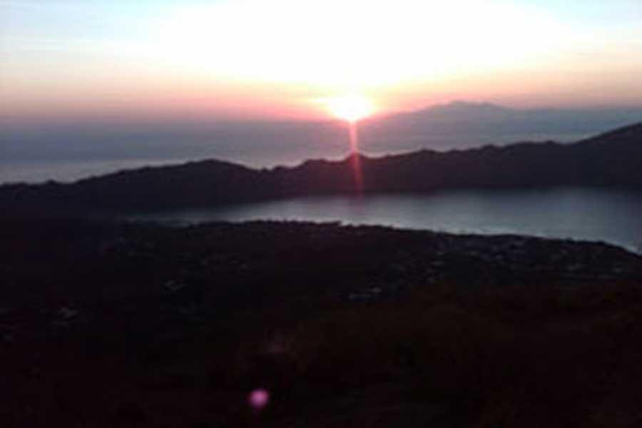 mount batur sunrise view