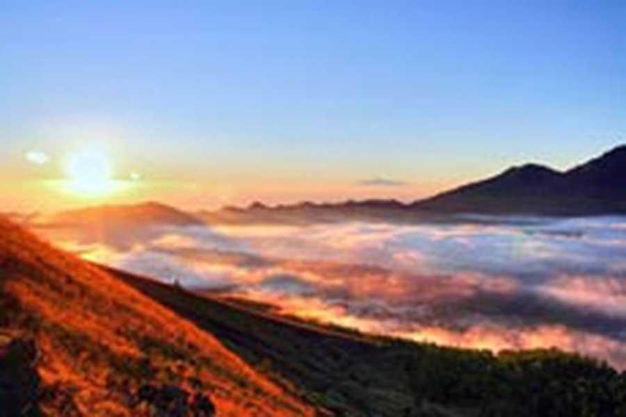 batur sunrise view