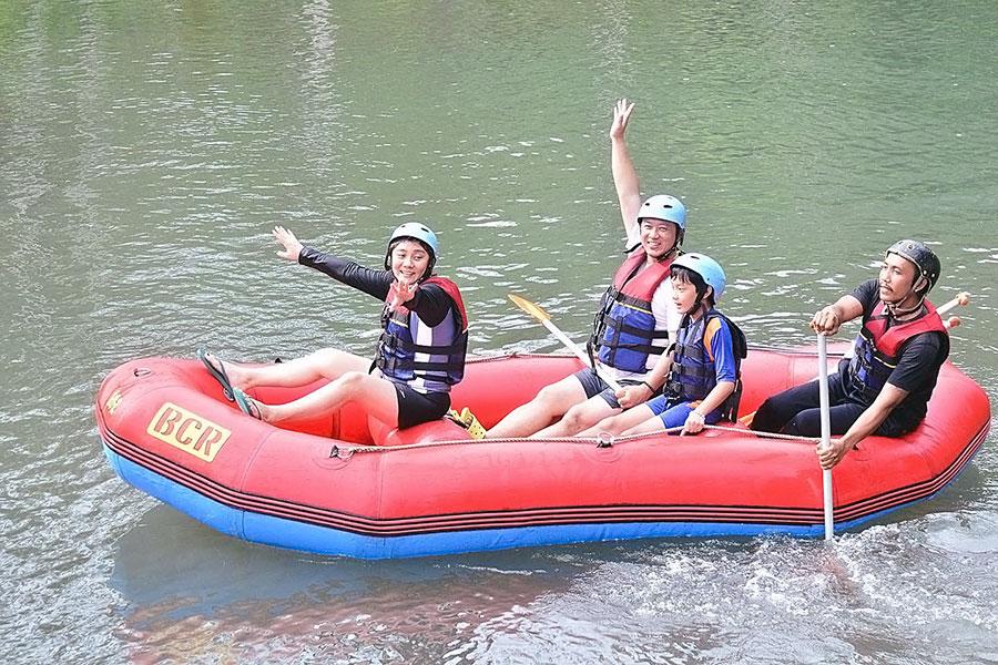 bukit cilli rafting, telaga waja
