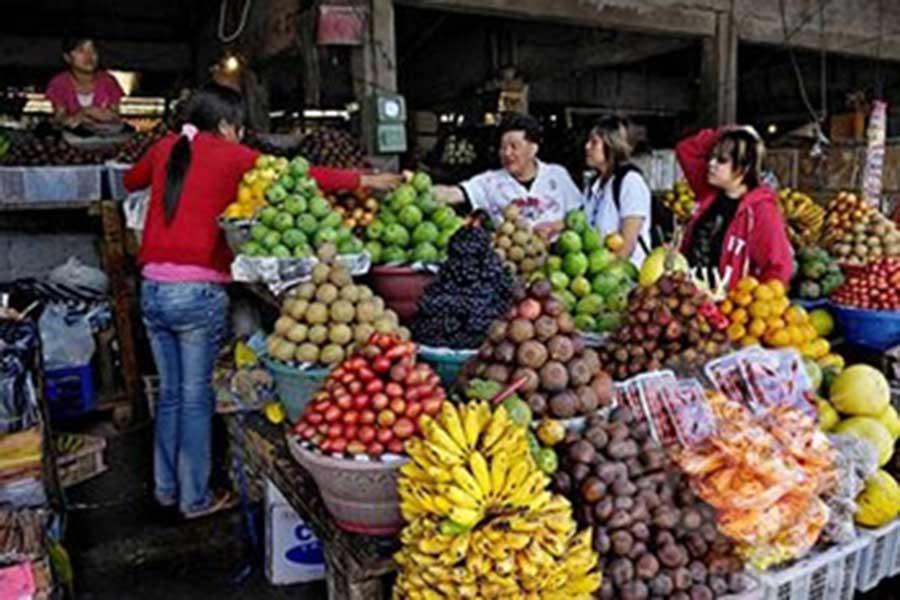 candikuning, fruit market