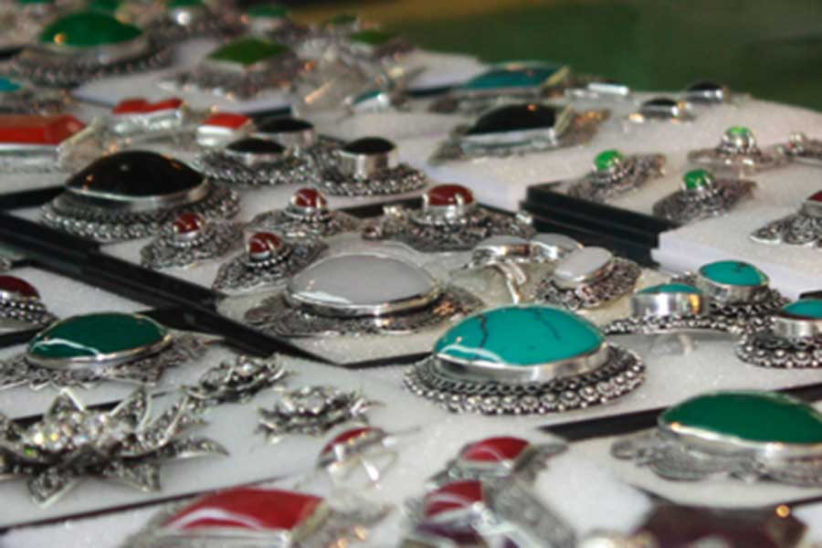 celuk village, silver works