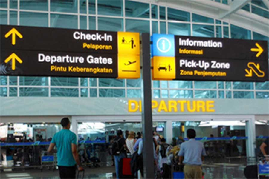 departure, bali airport