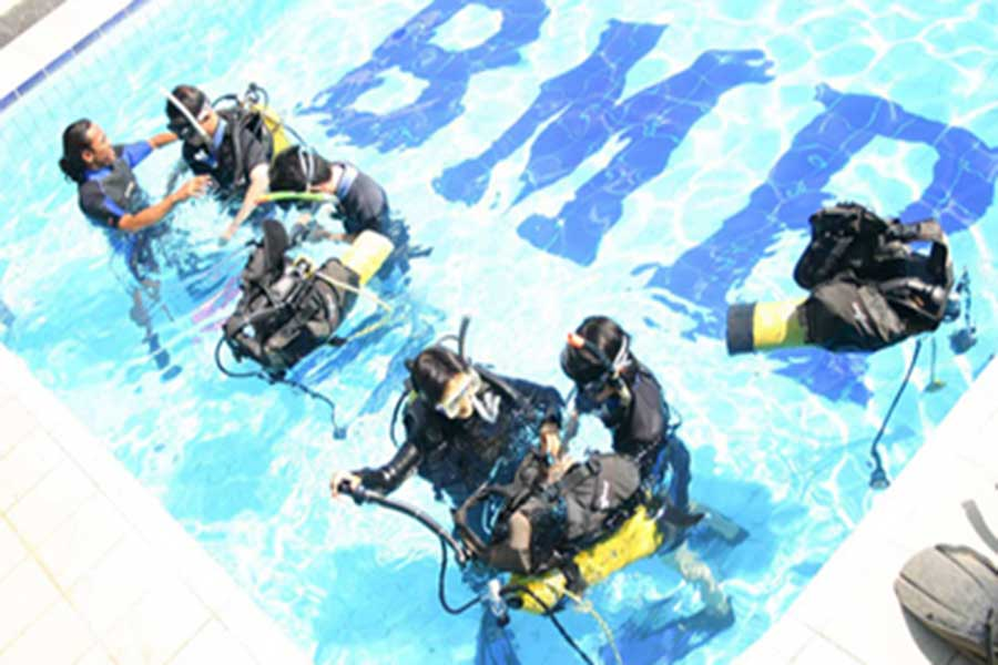 diving lesson, beginner dive, padi international