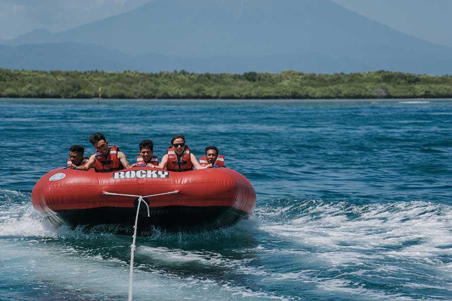donut boat ride, lembongan water sports