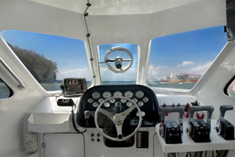 marina srikandi, fast boat interior