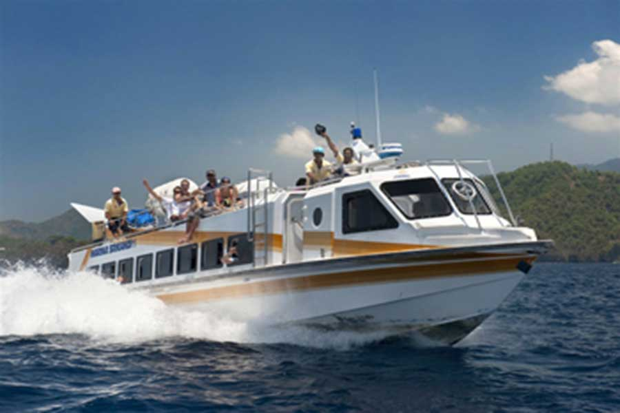 fast boat, gili, marina srikandi