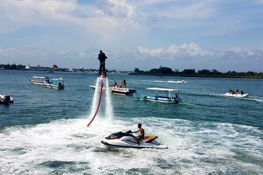 fly boarding at bali dolphin water sport