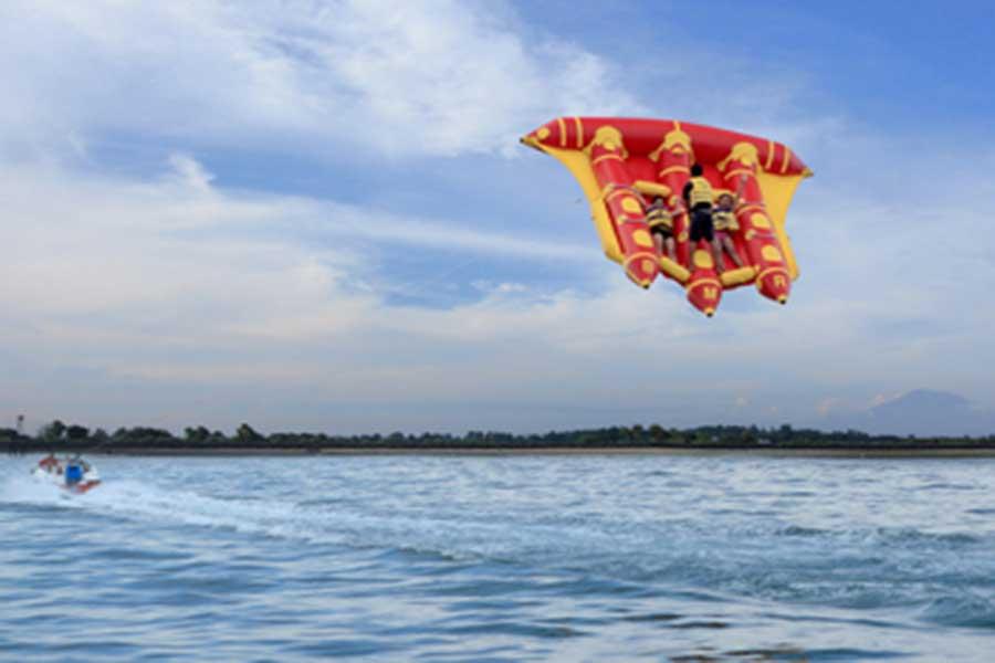tanjung benoa beach, water sports, fly fish