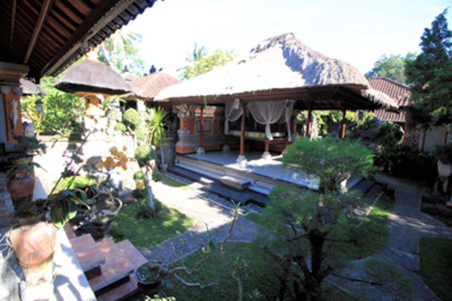 garden view, mambal balinese house
