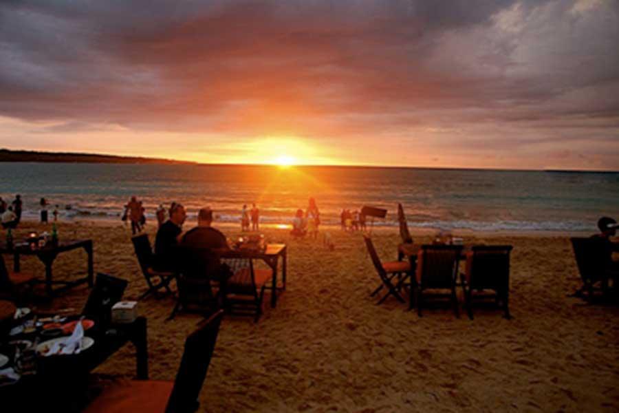 jimbaran, dinner, beach