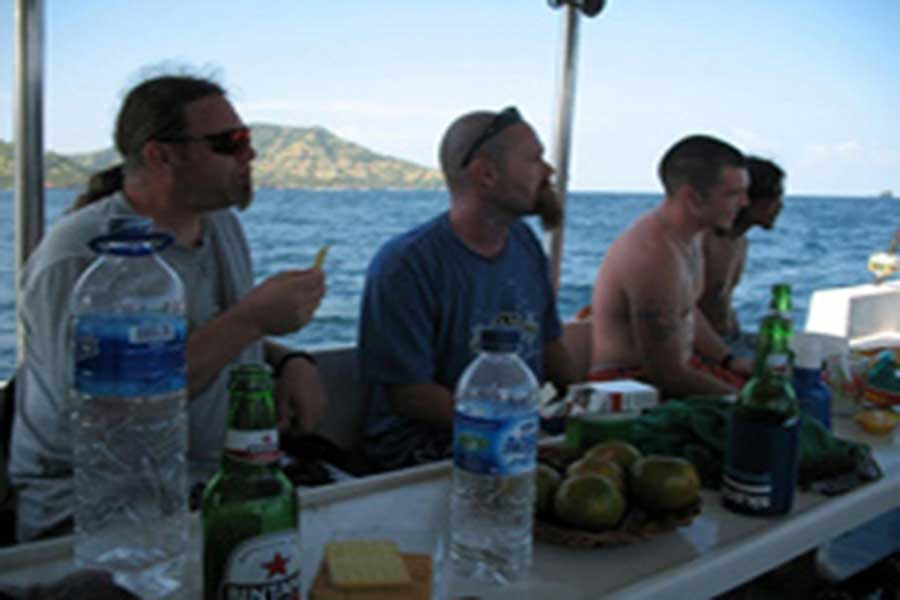lunch, fishing lunch, bali
