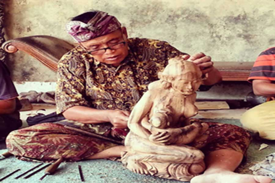 wood carving village, bali
