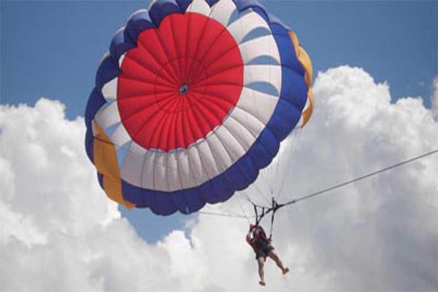 parasailing, parasailing pontoon, tirta harum