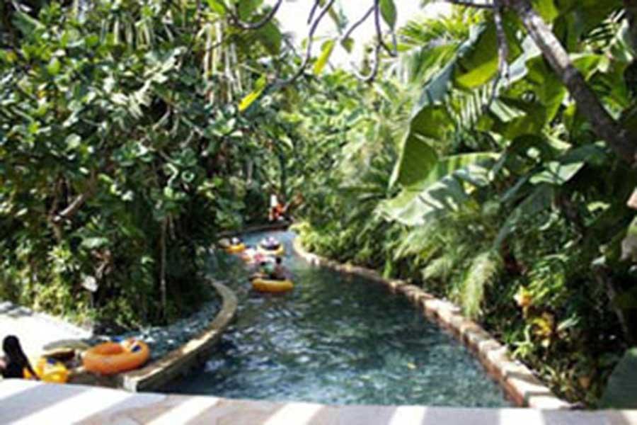 raft river, waterbom bali