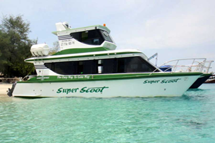 super scoot, fast boat to lembongan
