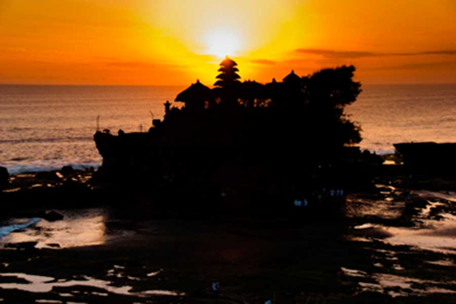tanah lot, sunset view