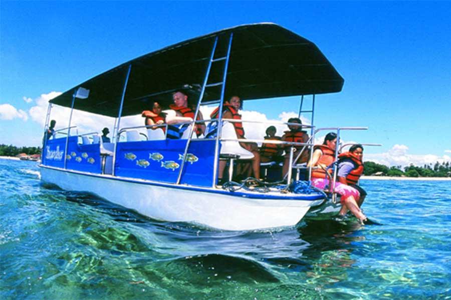 transfer to the pontoon, seawalker sanur bali