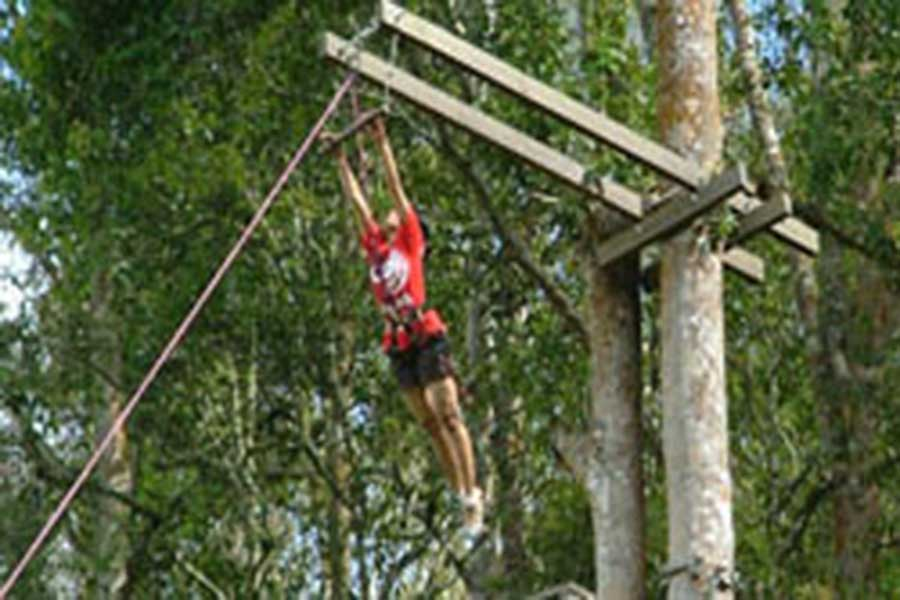 treetop adventure park bali, flying fox