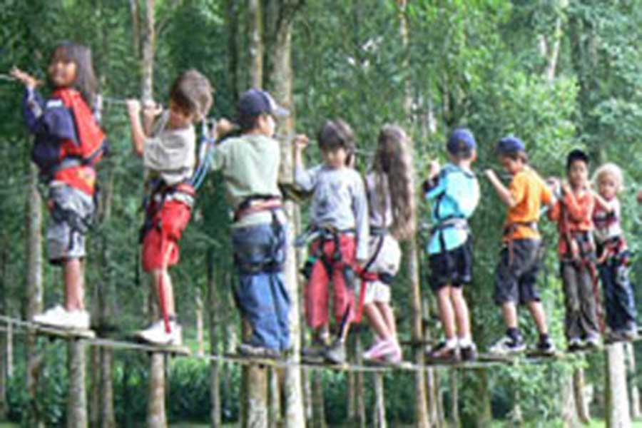 treetop adventure park bali, large group
