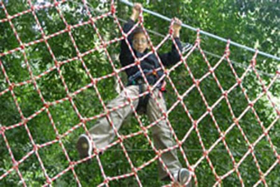treetop adventure park bali, spider net