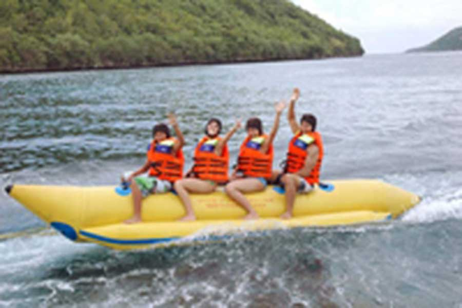 banana boat, bali cruise, day cruise, quicksilver