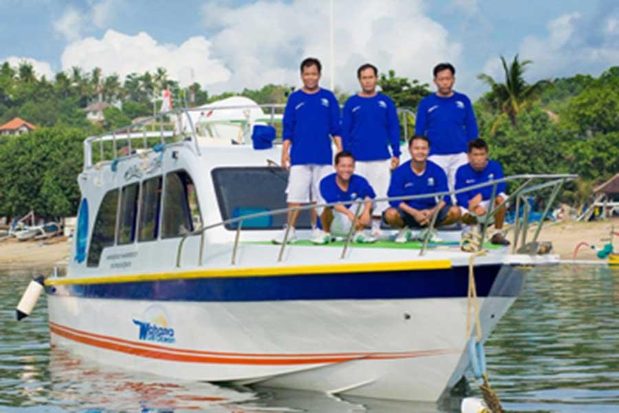 wahana gili ocean, fast boat, boat crew