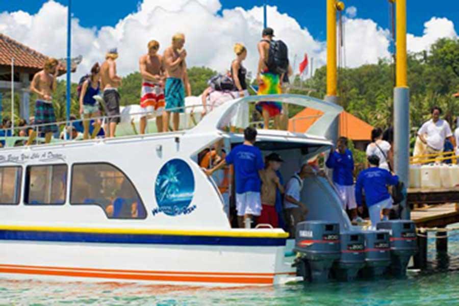 wahana gili ocean, passengers, boat