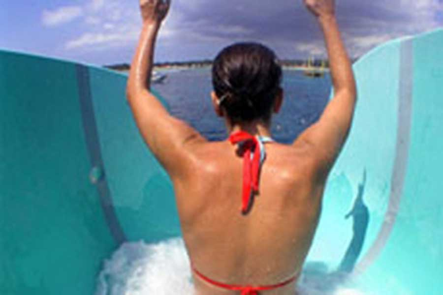 bali hai cruise, water slide, reef cruise