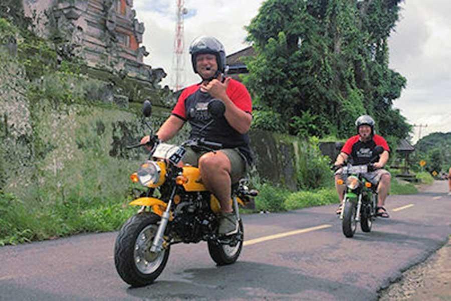 retro motor bikes, bali monkey bikes