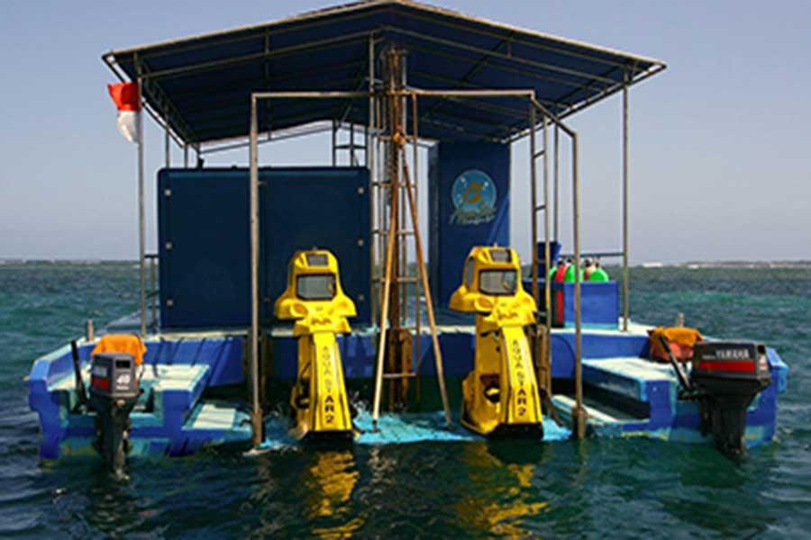 aqua star bali, underwater scooter, water sports