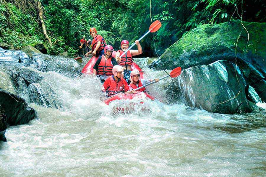 ayung river, river rafting class 3